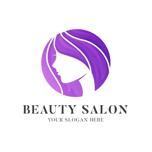 Шаблон логотипа салона градиент Бесплатные векторы