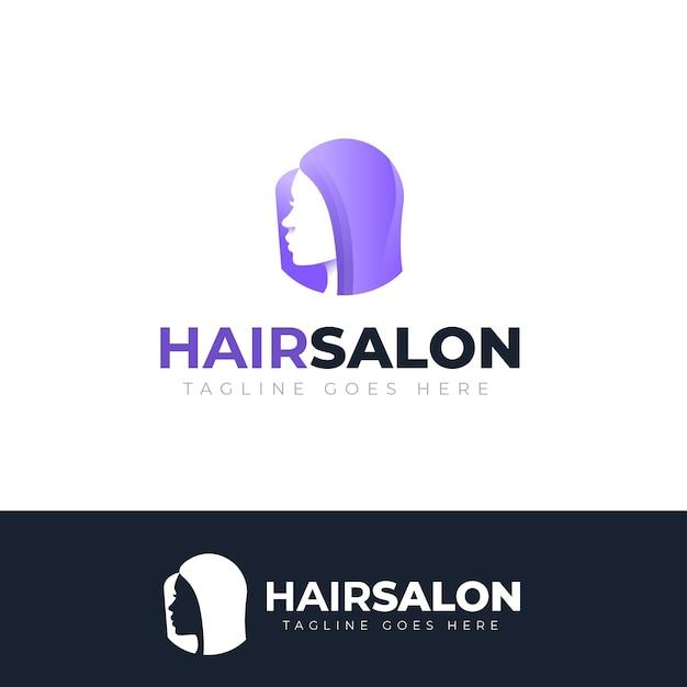 Градиентный логотип парикмахерской Бесплатные векторы
