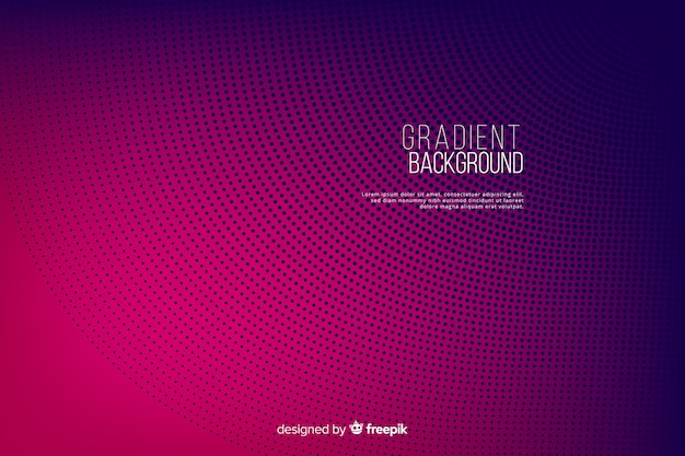Gradient halftone effect colorful background Free Vector