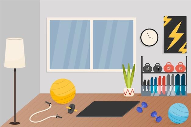 Palestra di casa gradiente illustrata Vettore gratuito