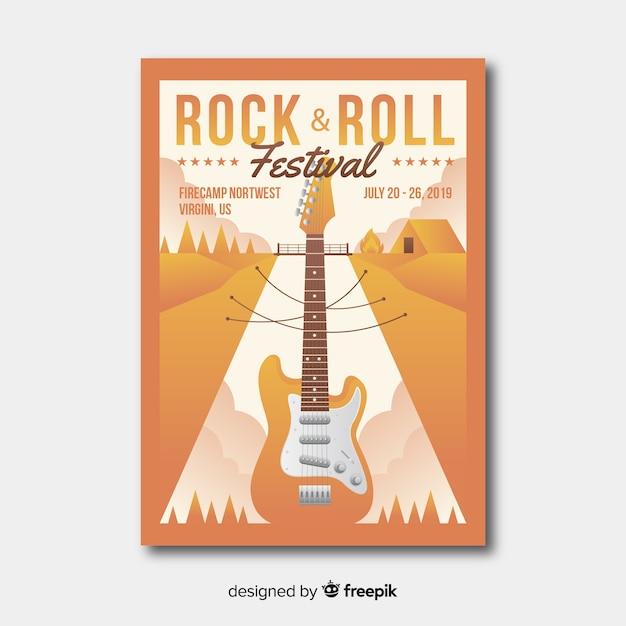 Плакат музыкального фестиваля градиента иллюстрации Бесплатные векторы