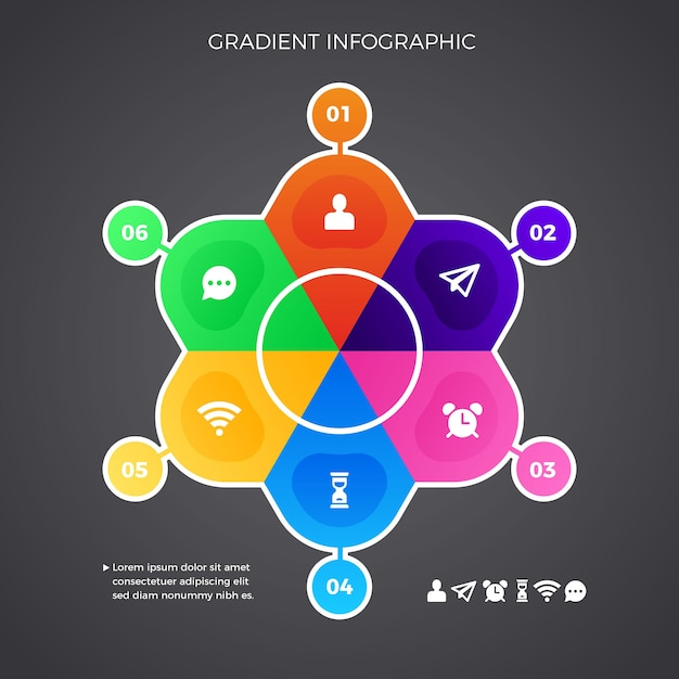 Gradient infographic collection Free Vector