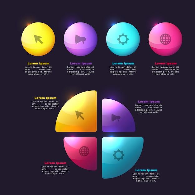 Gradient infographic elements concept Free Vector