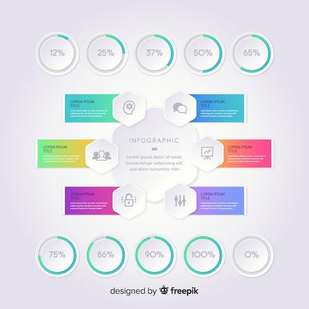 Gradient infographic elements Free Vector