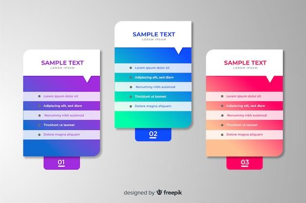 Gradient infographic template flat design Free Vector
