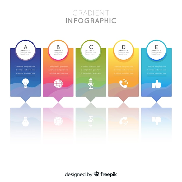 Gradient infographic Free Vector