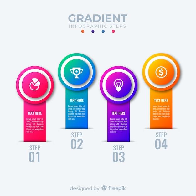 Gradient infographic Free Vector