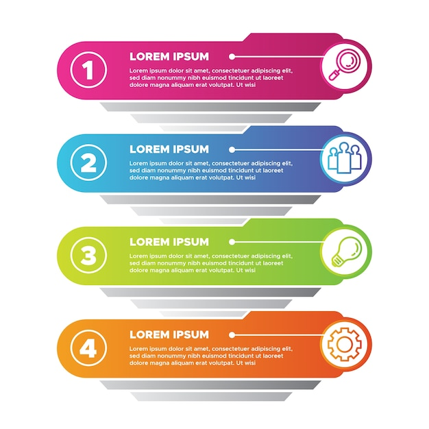 Gradient infographics concept Free Vector