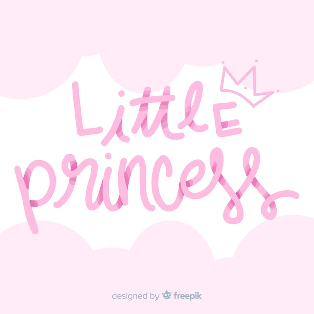 Gradient lettering princess background Free Vector