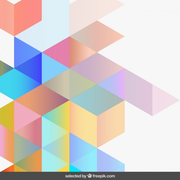 Gradient Light Colors Geometric Background Vector Free