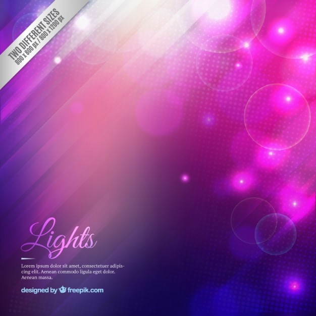 Gradient lights background in purple and pink\ tones
