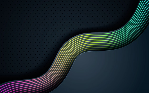 Gradient line element decoration background Premium Vector