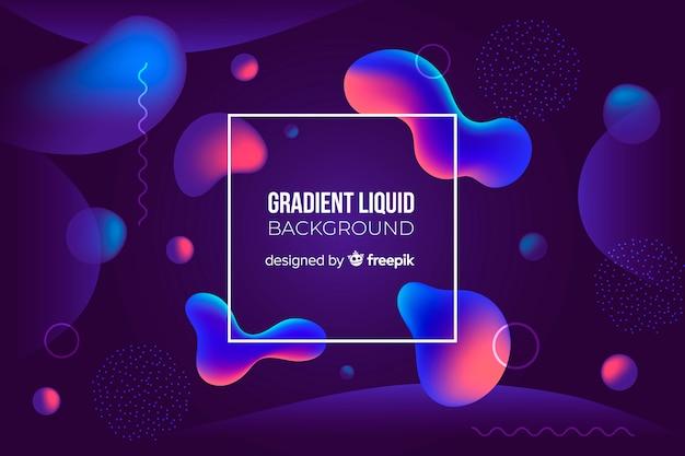 Gradient liquid background Free Vector