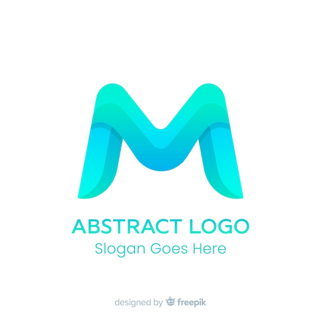 Gradient logo template with abstract shape Free Vector
