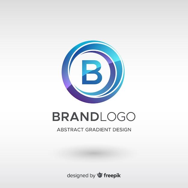 抽象的な形とグラデーションのロゴのテンプレート Premiumベクター