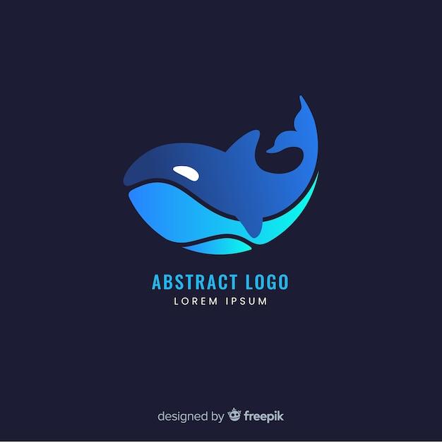 Шаблон логотипа градиента с абстрактной формой Бесплатные векторы