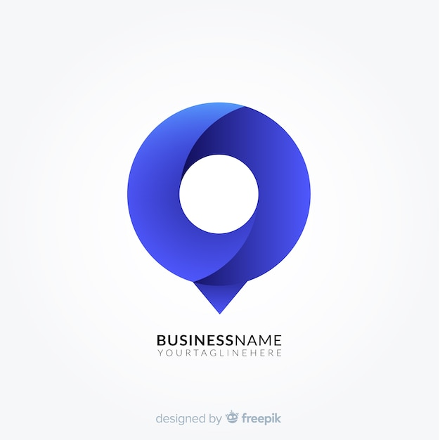 Gradient logo with abstract shape Free Vector