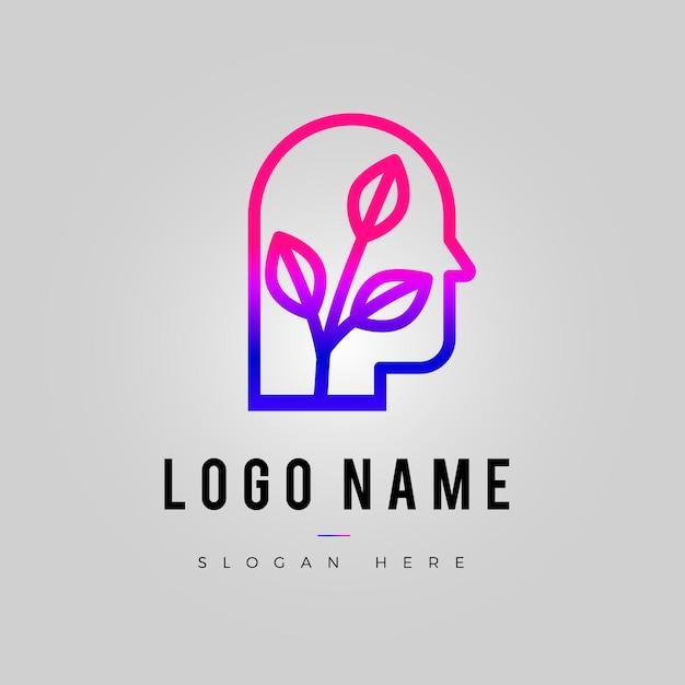 Gradient mental health logo template Free Vector