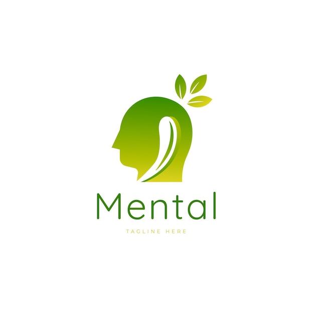 Градиентный логотип психического здоровья Бесплатные векторы
