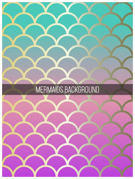 Gradient Mermaid Skin Background Vector Premium Download
