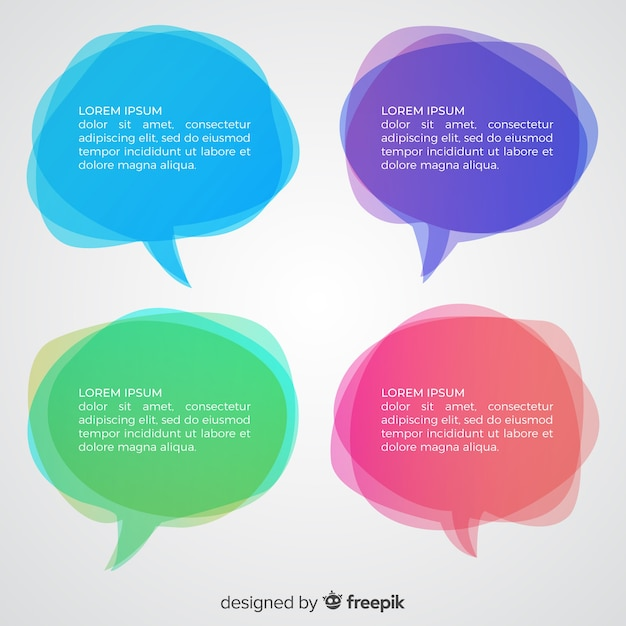 Gradient messy speech bubbles Free Vector
