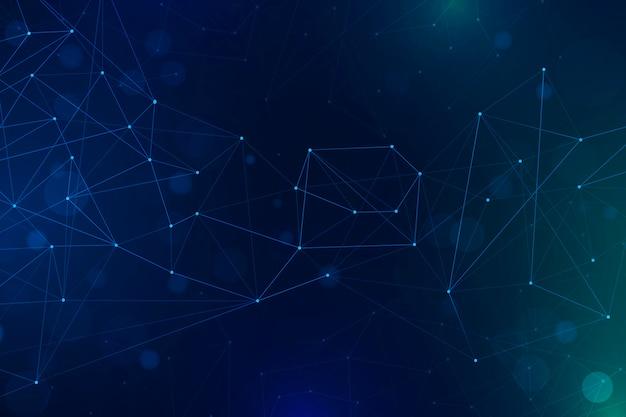 Градиентный фон сетевого подключения Бесплатные векторы