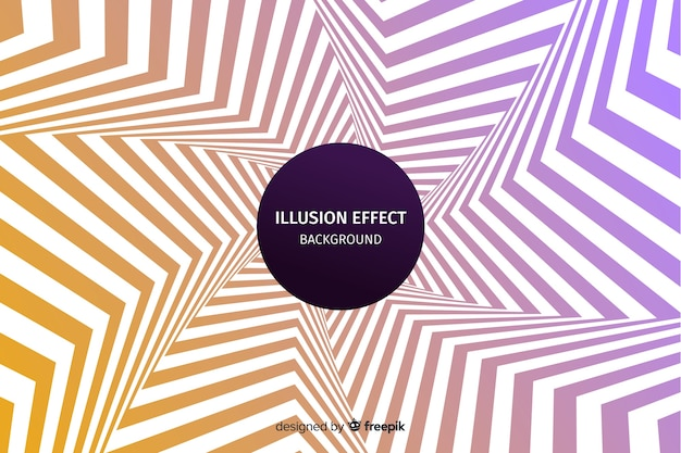 Gradient optical illusion effect background Free Vector