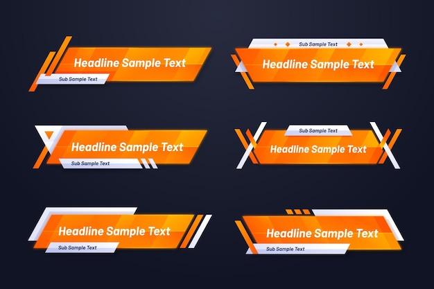 Градиентный оранжевый и желтый шаблон веб-баннера Бесплатные векторы