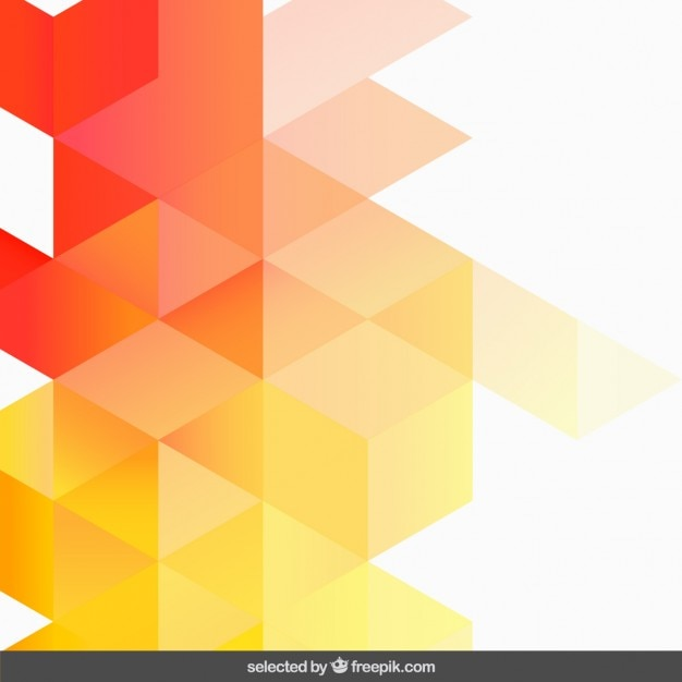 Gradient orange geometric background