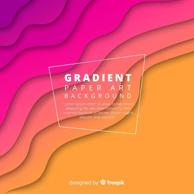 Gradient paper art backgound Free Vector