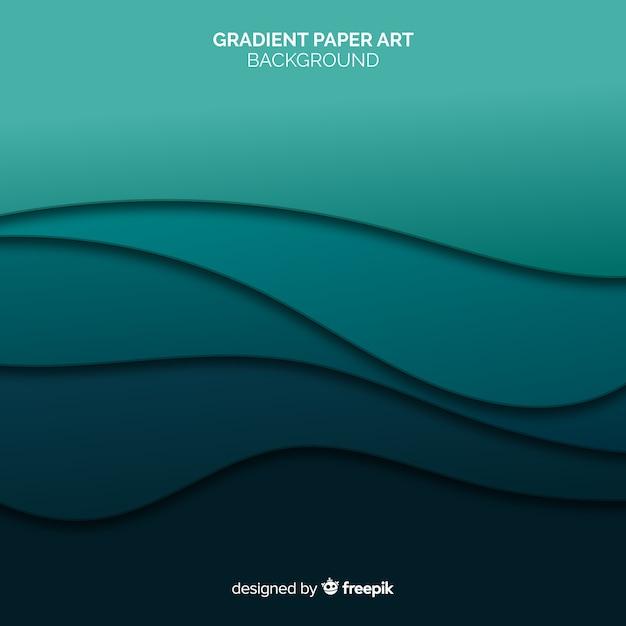 Gradient paper art background Free Vector