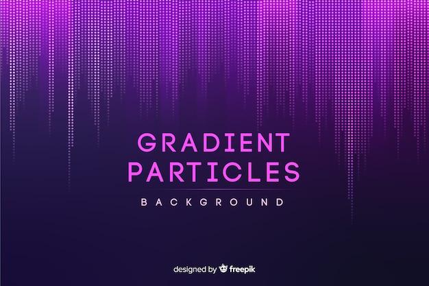 グラデーション粒子の背景 Premiumベクター