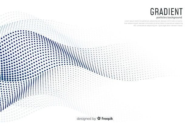 Gradient particles background Premium Vector