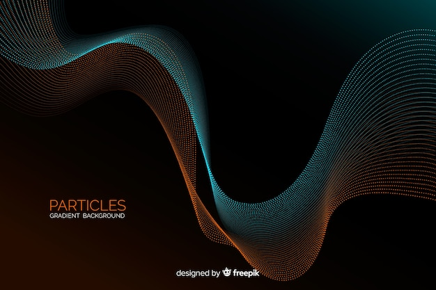 Gradient particles background Free Vector