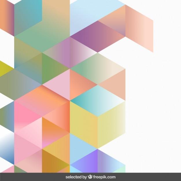 Gradient Pastel Colors Geometric Background Vector Free