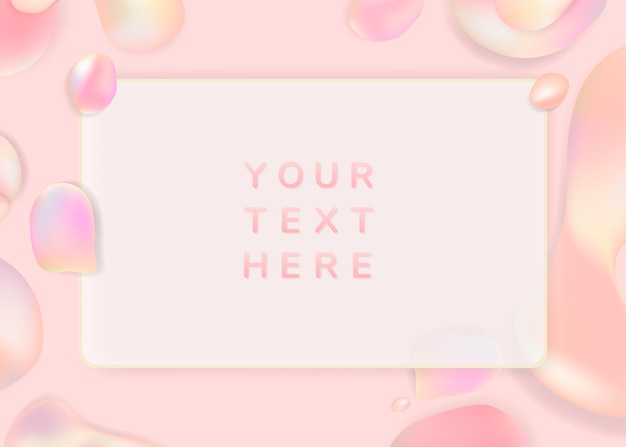 Gradient pastel frame background template Free Vector