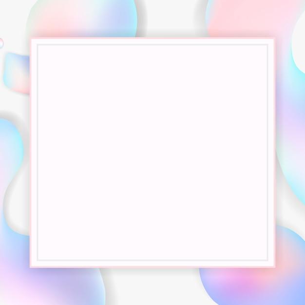 Gradient pastel frame background Free Vector
