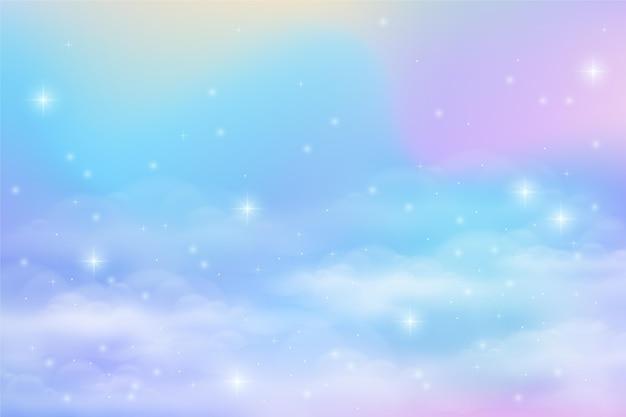 Gradient pastel sky background Free Vector