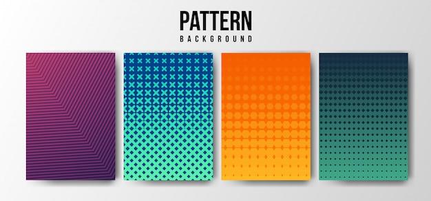 Gradient pattern background Premium Vector