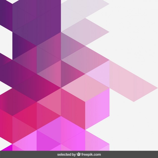 Gradient pink geometric background