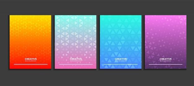 グラデーションポスター背景セット、モダンなバナーの概念ベクトル。 Premiumベクター