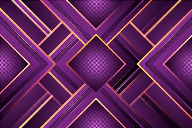 暗い背景に紫のグラデーション図形 無料ベクター