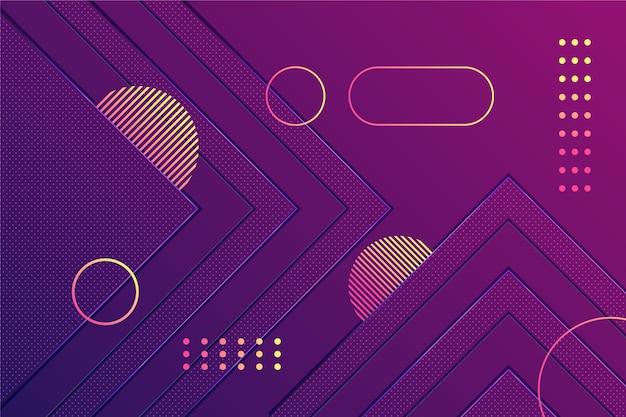 暗い壁紙にグラデーションの紫色の図形 無料ベクター