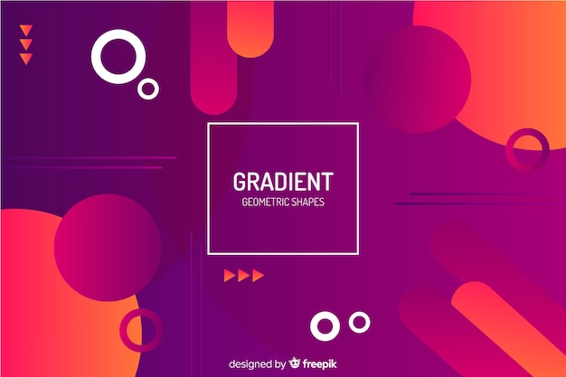 Free Vector Gradient Red Geometric Shapes Background
