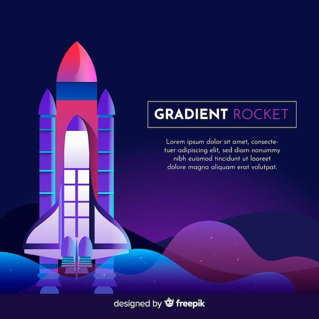 Gradient rocket background template Free Vector