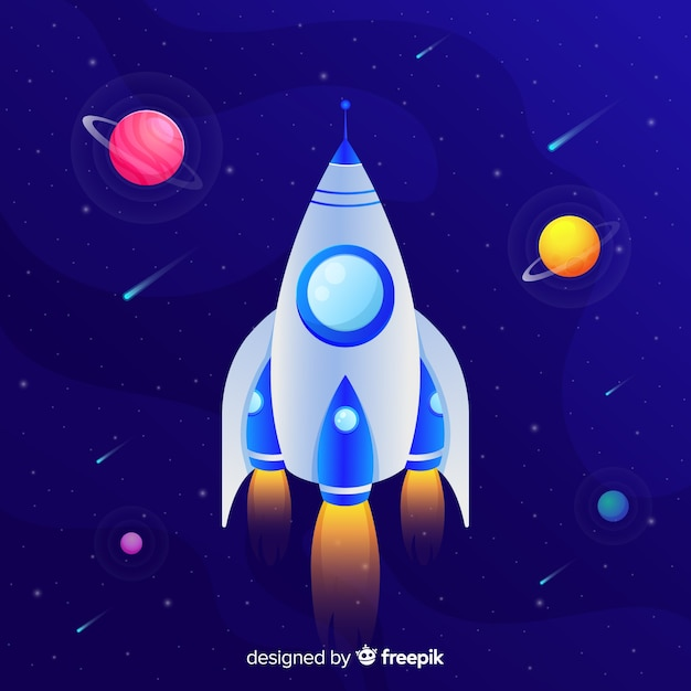 Gradient rocket Free Vector