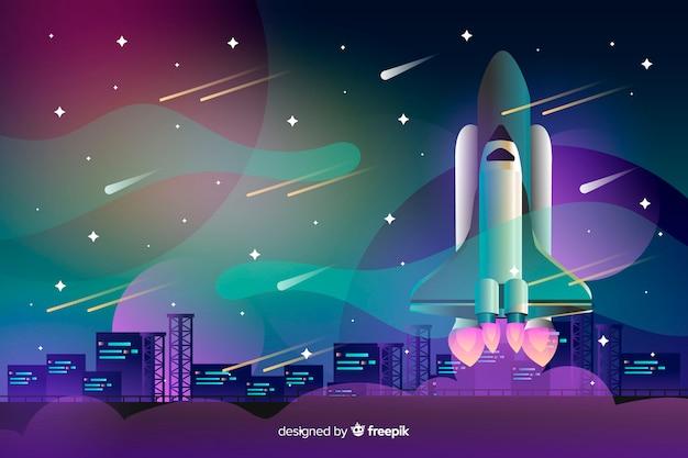 Градиентная ракета Бесплатные векторы