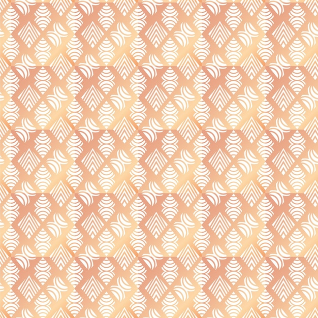 Gradient rose gold art deco seamless pattern Free Vector