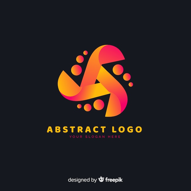 Gradient rounded abstract business logotype Free Vector