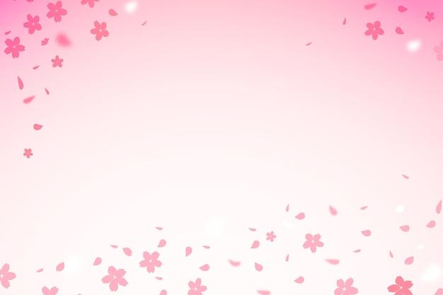 グラデーションの桜の花コピースペース背景 Premiumベクター
